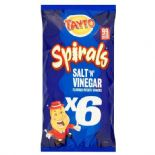 Tayto Spirals Salt 'N' Vinegar Snacks 6 Pack 120G